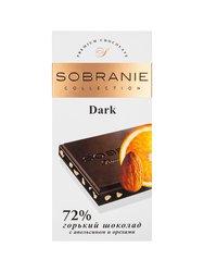 Шоколад Sobranie Горький апельсин с миндалем 100 гр
