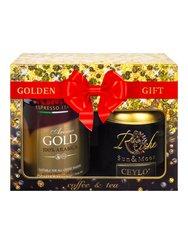 Подарочный набор Kimbo Aroma Gold молотый + Rich Nature Цейлон