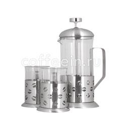Набор Kelli KL-3022 Френч-пресс и 4 чашки