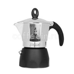 Гейзерная кофеварка Bialetti Dama 3 порции 120 мл cеро-черная