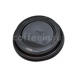 Крышка для бумажных стаканов с питейником 80 мм (Черная)