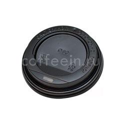 Крышка для бумажных стаканов с питейником 90 мм (Черная)