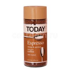 Кофе Today растворимый Espresso 95 гр (ст.б.)