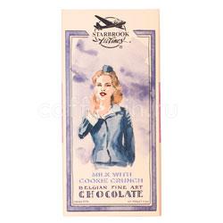 Шоколад Belgian Starbrook airlines молочный шоколад с дробленым печеньем 100 гр