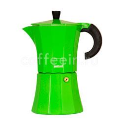 Гейзерная кофеварка Morosina (зеленая) 6 порции