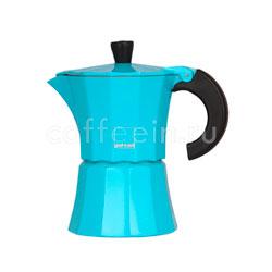 Гейзерная кофеварка Morosina Синяя 3 порций